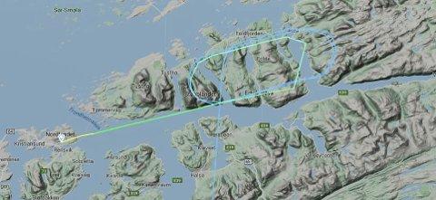 SAS SK2305 sirkulerte over Aure både én, to og tre ganger før det landet i Kristiansund.