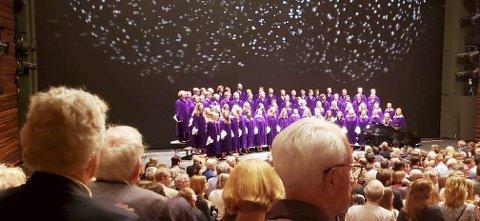 H.M. Kong Harald var til stede da St. Olavs Choir and Orchestra holdt konsert i Operaen i Bjørvika 2. juni.