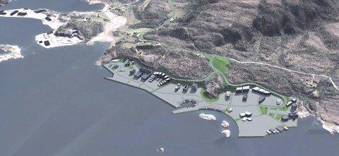 BOLGNESET: Slik så Kristiansund kommune for seg at det kunne se ut på Bolgneset med en gedigen batterifabrikk.