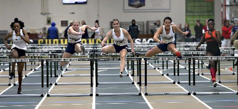 God i USA: Elise Hoel Ulseth løp 60 meter hekk på 8,60 da hun var med i femkamp i USA.