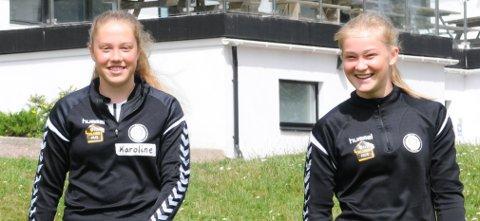 GÅR VIDERE: Norges Toppidrettsgymnas og Øvrevoll/Hosle er neste stoppe for Karoline Røren Svanes (til venstre) og Malene Maslø Dunsby.