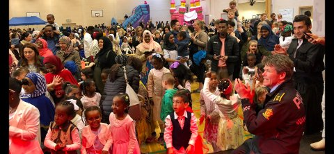 Fest: Eid-feiringa ble intet annet enn vellykket.