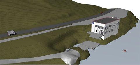 Slik ser man for seg det nye driftsbygget på Sarnes. Dette har en prislapp på mellom 16 og 20 millioner.