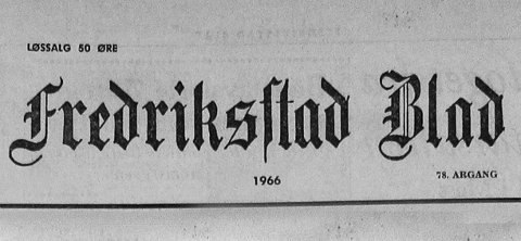 Fredriksstad Blad - førstesider 1966