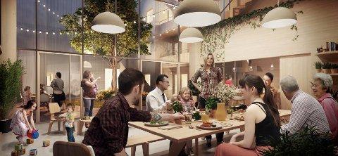 Vindmøllebakken i Stavanger, nettopp det bærekraftige bofellesskapet er konseptet.