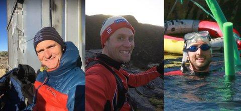Kompisene Kristian Vestergaard (til venstre), Asbjørn Hjørnevik og Øyvind Christoffer Nygård Skuggedal ønsker å starte en klatreklubb på Ålgård.