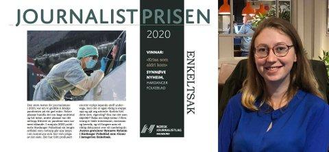 HF-journalist Synnøve Nyheim vann laurdag pris for saka «Krisa som aldri kom»