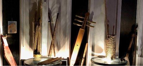 Fløyte og instrument-samlingen i bedehuset.