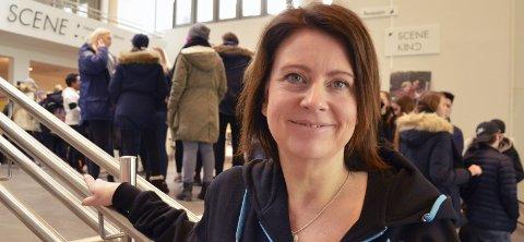 Godt fornøyd: Marianne Aashaug var godt fornøyd da hun så køa med folk som stilte opp for kreftsaken.FOTO: ESPEN AMUNDRUD SOLHAUG