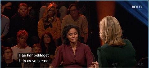PRESSETISK INNENFOR: NRK har evaluert fredagens intervju med Trond Giskes samboer Haddy Nje.  - Vi er godt fornøyd isolert sett, er dommen.