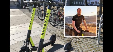 HAR TRUA: På tross av en tung start i aprilmåned, har Byspark-gründer Tom Jarle Melby tro på at folk i Gjøvik etter hvert får øynene opp for elsparkesykkel som framkomstmiddel
