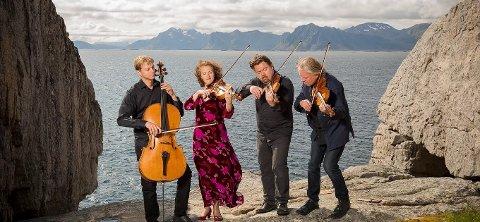 KOMMER: Engegårdkvartetten, er klare for å rocke brakka i Drøbak under åpningskonserten for sommerkonsertene i Drøbak.