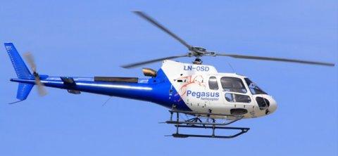 UNDERSØKELSER: Helikopter av denne typen blir å se over store deler av Hedmarken de neste tre ukene.