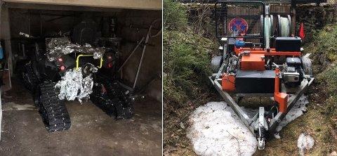 TYVGODS: I april i fjor fant politiet en ATV og en vinsj for linjelegging gjemt på en adresse i Østerdalen. Nå er tre personer tiltalt for grovt tyveri.