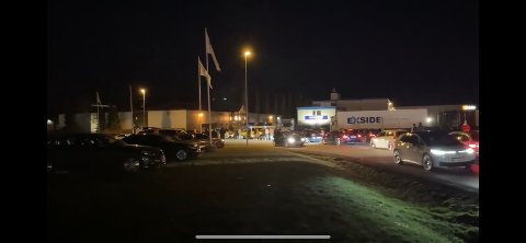 FLERE HUNDRE: Over 300 biler deltok på treffet på Borgeskogen i følge politiet.