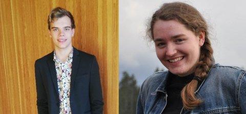 SØKER DRØMMEJOBBEN: Heine Gabrielsen og Vilde Klever spesialiserer seg begge innenfor musikk.