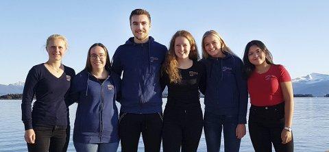 Ungdomsutvalg: Marthe Farstad (fra venstre), Karoline Hansen, Julian Nygård, Idun E. Stavseng, Ingrid Marie Larsen og Belinda Paler.