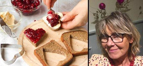 VELG BORT: Hvetemel, fruktsukker og raffinert hvitt sukker blir til fett i kroppen og legger seg på magen, det bør vekk fra kostholdet, skriver Toril Sandtorv.