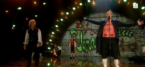Skranglebein gjorde en morsom miks med folkemusikk-og hip hop.