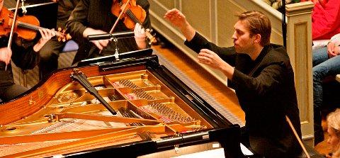 2010: Sist gang Leif Ove Andsnes besøkte Fredrikstad var i 2010. Da kom han og det Norske Kammerorkester til kirken i Gamlebyen. Arkivfoto: Kjell Kristian Sikkeland