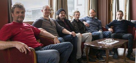 Spillejobb: LouLuma skal spille på Enter Bar lørdag. Fra venstre: Tommy Berg Larsen, Bjørnar Pedersen, Frank Benjaminsen, Sigbjørn Normann, Thomas Sand Hareide og Rune Mentzoni Olsen.