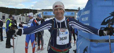 Feiret med 10 000: Kjell Ivar Granheim feiret bursdagen sin med å gå birkebeinerrennet fra Rena til Lillehammer. Foto: Pål-Erik Berntsen