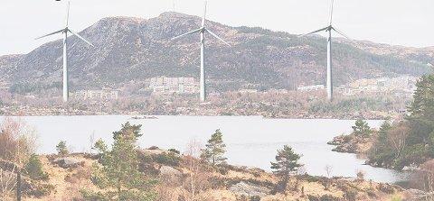 Illustrasjonen er hentet fra flygebladet til folkemøtet i Aksdal kommende tirsdag. Det er gitt konsesjon til tre vindmølleparker i Tysvær, men det kan være greit å poengtere at Aksdal ikke er én av dem.