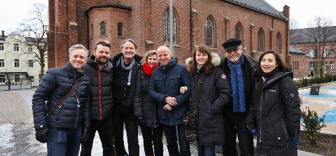 STERKE KREFTER: Moss kommune har fått til et langsiktig samarbeid med Det Norske Kammerorkester. Per Erik Kise Larsen (fra venstre), Petter Fosse, Terje Kinn, Hanne Løkka, Tor Sørby, Anniken Leegaard, Trygve Nordby og Euishin Kim.