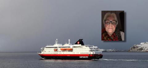 DUKKET IKKE OPP: Liss Loholt skulle, ifølge billetten hun hadde bestilt, seile av gårde med MS Trollfjord fredag morgen. Istedenfor kom MS Kong Harald. Foto: Hurtigruten/ Privat