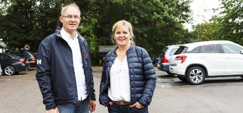 Nina Høier og Tor Lie er to av dem som har underskrevet brevet fra næringsforeningen der det uttrykkes skepsis når det gjelder Borgheim Syd.