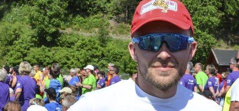 LØPER: Amund Brennlien, mannen som løp 24 timer alene under Stafett for livet på Sveum tidligere i sommer.
