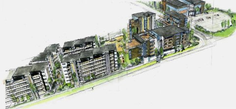 Nytt område: Klokkerjordet er planlagt som et boområde i tilknytning til sentrum, med boliger i ulike størrelser.