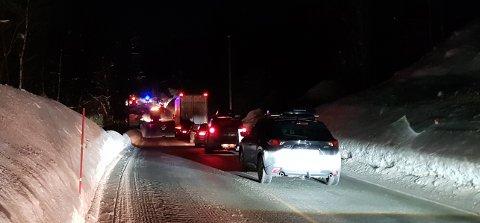 UTSATT: Det skjer stadig ulykker på veistrekningen mellom Åmot og Vinjesvingen. Her etter en ulykke i Bøgrend nå i februar.  Foto: Lars Lager Espevalen