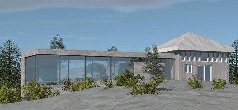OMBYGGING: Slik ønsker Tom Stiansen at hytta skal bli seende ut etter ombyggingen. (Illustrasjon: Puls Arkitekter)