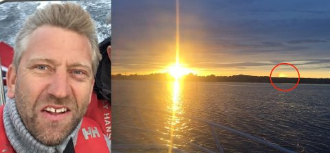 HVA I ALL VERDEN?: Hva var det egentlig Terje Myhre så ved solnedgangen onsdag?