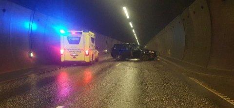 Tunnelen var stengt etter ulykken.
