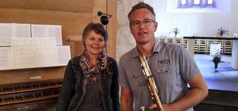 Ann Torill Lindstad og Arne Bilden: Gir konsert sammen i Mariakirken søndag kveld.  Foto: privat