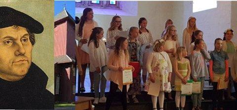 Brandbu Barnekantori og Kormix synger salmer av både Luther og Carola!