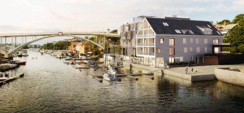 Realisering av planlagte leilighetsprosjekter på byhistorisk tomt sør for Hasseløy bro lar vente på seg.