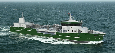 «HORDAGUT»: Brønnbåten blir 82,9 meter land, 18 meter bred og 8,5 meter høy. Bestillingen sikrer ordrehorisonten til Fitjar Mekaniske Verksted fram til april 2020.