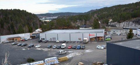 Handels- og industriområdet på Sluppan. Bildet brukes som illustrasjon.