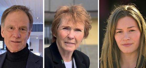 ORDFØRERE: Tre ordførere har uttalt seg om Moria-leiren. Fra venstre: Nore og Uvdals Jan Gaute Bjerke, Kongsbergs Kari-Anne Sand og Rollags Viel Jaren Heitmann.