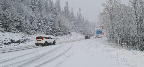 På grensa til Sverige er det vinterføre nå.