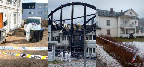 TRE DRAP I 2020: De tre drapene som rystet Vestopplands befolkning i fjor var i Skolegata på Gjøvik, i forkant av brannen i næringsbygget i Moelv og ved Hov Nordre i Søndre Land.