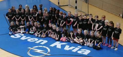 Håndballspillerne i Havdur samles normalt til avslutninger etter endt sesong. Slik blir det ikke i år. Bildet er fra en turnering i Tanangerhallen i fjor.