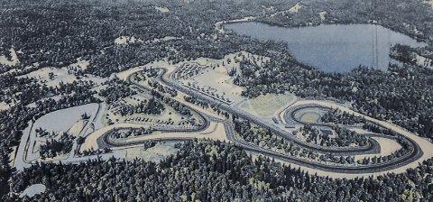 PLANER: Telemark Ring er planlagt på høyre side av E134 på strekningen mellom Notodden og Kongsberg på Meheia.