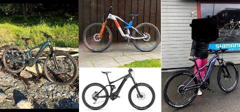 STORE VERDIER: Fire dyre elsykler ble stjålet i løpet av kort tid fra torget i Levanger natt til lørdag.