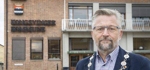 Vil ha fortgang: Kongsvinger-ordfører Sjur Strand ønsker at kommunen skal bli bedre til å ta vare på dem som ønsker å investere store beløp i kommunen, og at det gjenstår endel før man er der. Foto: Jens Haugen