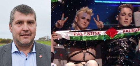 UPASSENDE: Bengt Rune Strifeldt er lite imponert over måten Island og opptreden til Madonna, ble brukt som det han beskriver som en politisk agenda