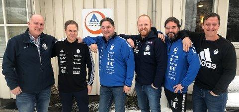 De slår seg sammen for å løfte Gjøvik som idrettsby; fra venstre Esten Kjølvang, Geir Langedrag, Steffen Csirmaz, Hans Svellet, Sigmund Hagen og Espen Haug.